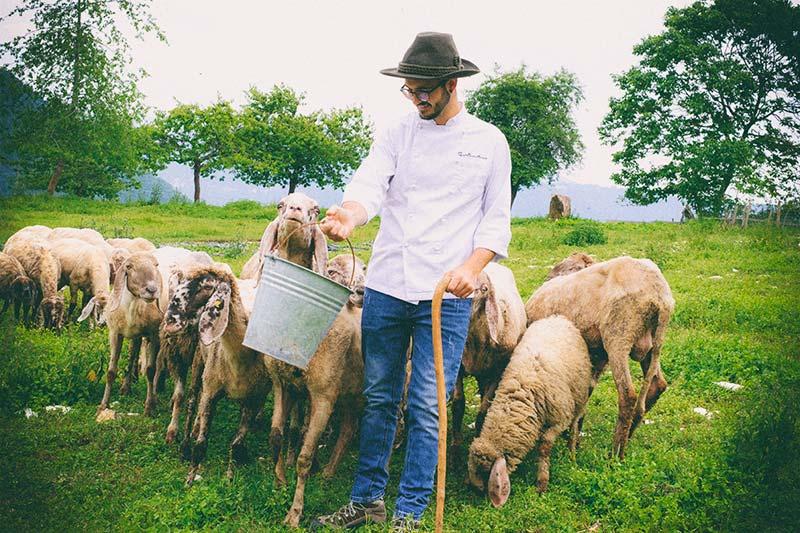 Gianmarco Munari e le Pecore di razza Foza