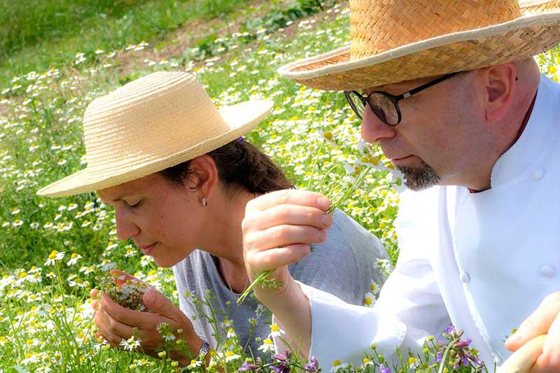 Chef Riccardo Cunico e Lisa Cantele