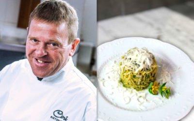 chef Domenico Pertile: Tagliolini con Broccolo Fiolaro e Formaggio Asiago DOP Stravecchio