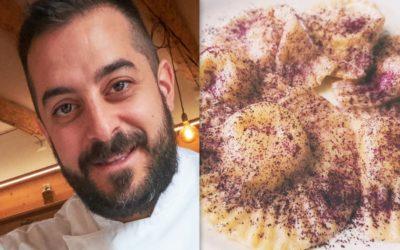 chef Lorenzo Peron: Ravioli casarecci con ripieno di Asiago DOP e polvere di rosa
