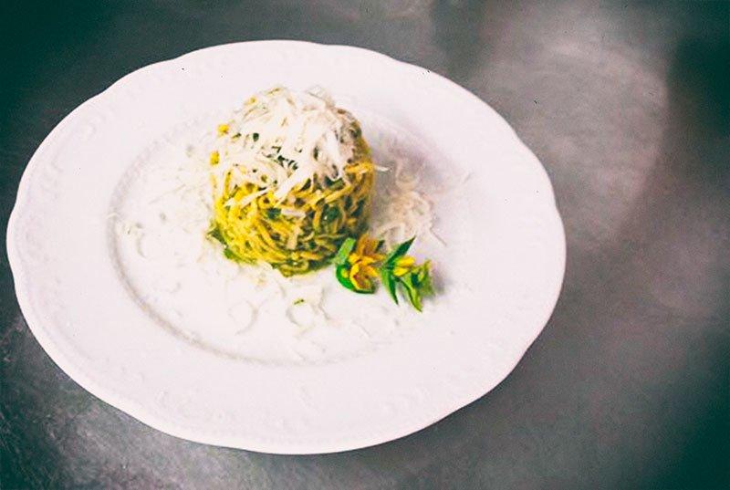 Tagliolini con Broccolo Fiolaro di Creazzo e Formaggio Asiago DOP